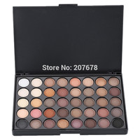 40 Colors Smoky Matte Eyeshadow Mixed Color Baking Powder Eye Shadow Palette Naked Nude Glitter Cosmetic Set