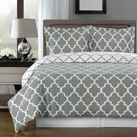 Meridian Gray 100% Combed cotton Duvet Cover Set