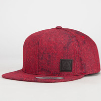 Volcom Nails Mens Snapback Hat Red One Size For Men 23758130001