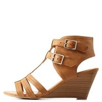 Tan City Classified T-Strap Wedge Sandals