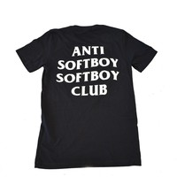 """ANTI SOFTBOY CLUB"" TEE"