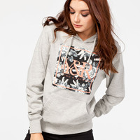 Young & Reckless New Square Womens Hoodie Heather Grey  In Sizes