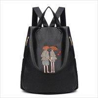 Student Backpack Children Hand embroidery women's backpack Fashion Student backpack women bag Leisure travel backpack AT_49_3