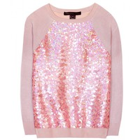 marc by marc jacobs - gretta sequinned cotton-blend sweater