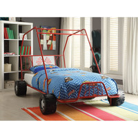 Twin Size Red Go Kart Bed