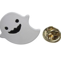 White Ghost Lapel Pin