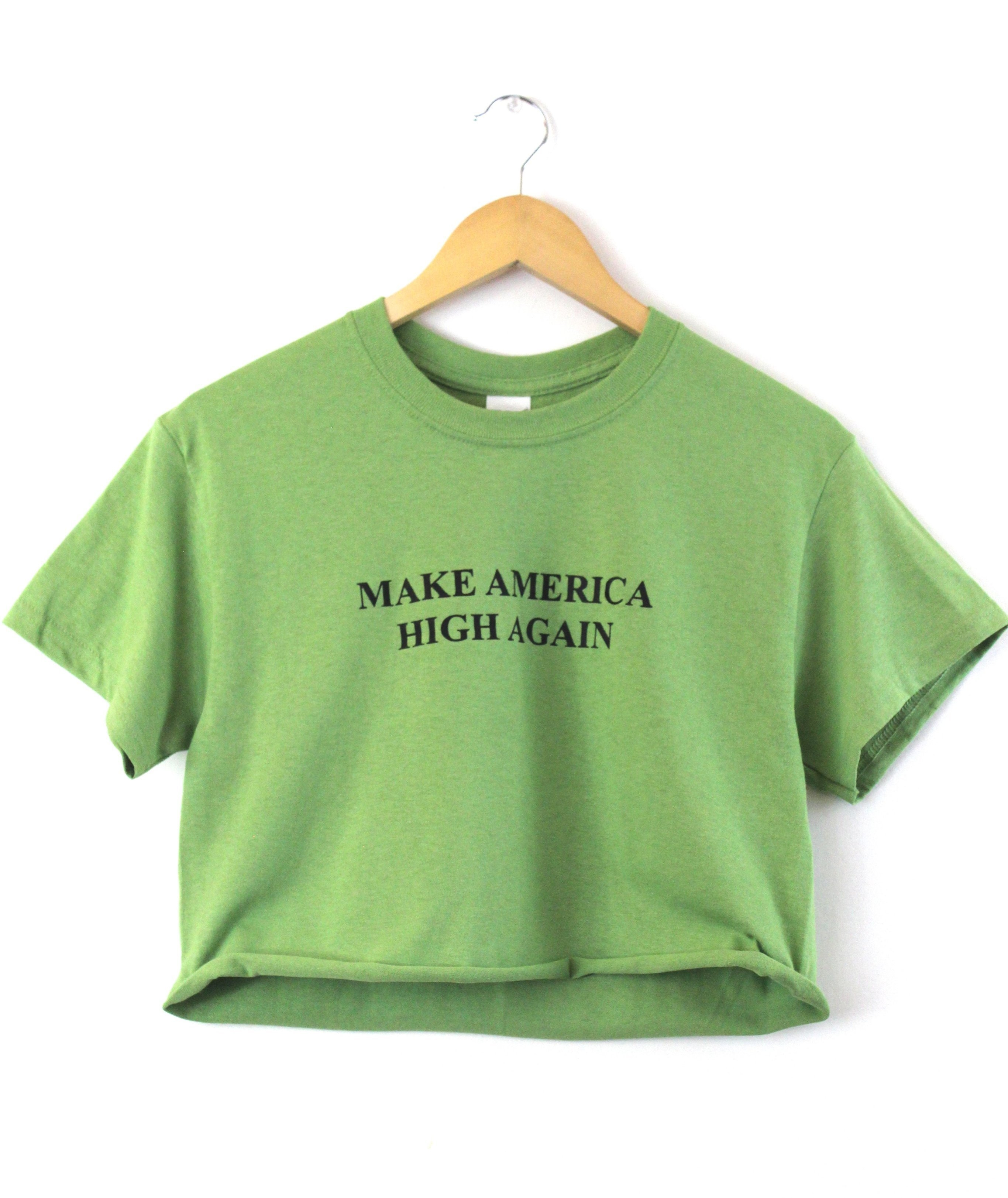 Image of Make America High Again Graphic Unisex Cropped Tee