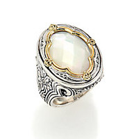 Konstantino - Selene Mother-Of-Pearl, 18K Yellow Gold & Sterling Silver Clover Ring - Saks Fifth Avenue Mobile