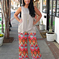 Chevron Wide Leg pant by Ivy Jane - Cocobella Boutique | Online Women's Clothing Boutique Greenville SC