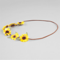 Full Tilt Daisy With Leaves Crown Yellow One Size For Women 24071960001