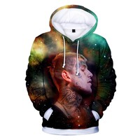 BTS Hot Sale Hoodies Casual 3D Lil peep Sweatshirt Long Sleeve Men Clothes 2018 Tops Hooded Kpop Hip Hop Plus Size Q1244-Q1246