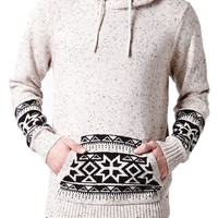 On The Byas Colby Printed Pullover Sweater - Mens Sweater - White