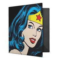 Wonder Woman Face Binder from Zazzle.com