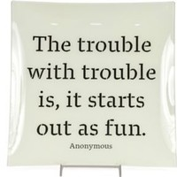 One Kings Lane - Chic Shop by Hillary Thomas - The Trouble with Trouble Tray