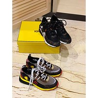 Fendi Men's Leather Fashion Sneakers Shoes