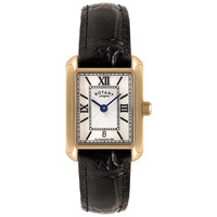 Buy Rotary LS02651/41 Mother of Pearl Leather Strap Watch, Gold / Black online at John Lewis
