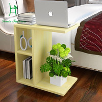 Creative simplicity of large-sized apartment mobile living room small tea table sofa table multifunctional Kung Fu Tea table