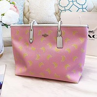 COACH Fashion Women Shopping Bag Leather Cute Pink Handbag Tote Shoulder Bag Satchel