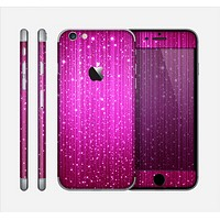 The Abstract Pink Neon Rain Curtain Skin for the Apple iPhone 6