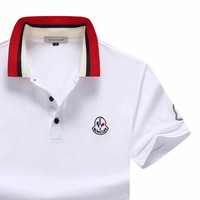 Moncler 2019 new thin section lapel POLO shirt half-sleeved T-shirt white