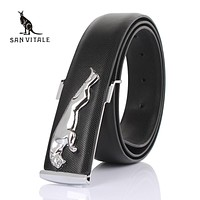 2016 Men belt Luxury brand leather belt for men genuine leather Belt casual strap fashion designer real cowhide leather belt man
