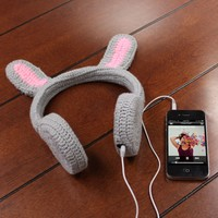 BunnyPHONES Kids / Childrens Crocheted Animal Rabbit Ear Stereo Headphones with Stylus and Accessory Bag for Kids Tablets like Leapfrog Leappad 2 / LeapPad Ultra / Fuhu NABI / Kurio Kids / Genius Kids / Tabeo and More Children's Tablets!