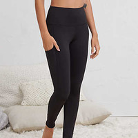 Aerie Hi-Rise Play Pocket Legging, True Black