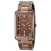 Pulsar Men's Analog Display Japanese Quartz Brown Watch