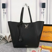 Hcxx 19Oct Louis Vuitton LV 241 Monogram Leather Taurillon Large Capacity Tote Shopper Bag 43-28-17cm