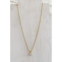 CNJ Vintage Solitaire Necklace