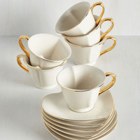 Dream and Sugar Tea Set in Ivory by ModCloth