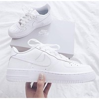 NIKE AIR FORCE 1 classic men and women wild casual white shoes 1