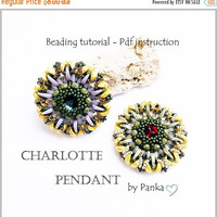 Beading pendant tutorial. Beading pattern. How make to jewelry tutorial. Pdf Beading instruction. Pendant tutorial.
