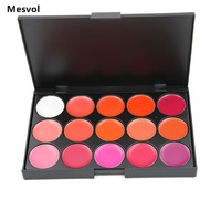 Matt Matte lipstick Professional Lipstick Palette 1pcs Red Lips 15 colors Lipsticks Lip Makeup 01