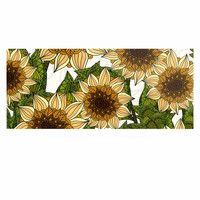 "Art Love Passion ""Sunflower Field"" Beige Yellow Luxe Rectangle Panel"