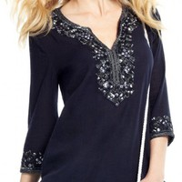 Sage Cotton Sequined Tunic | Calypso St. Barth