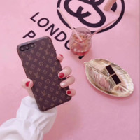 LV print phone shell phone case for Iphone 6/6s/6p/7p/7