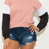 To The Limit Sweater Blush Pink