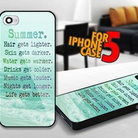 Summer Quotes for iPhone 5 Black case