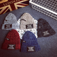 Knitted Cotton Beanie with Tags