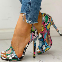 Women Thin High Heels Buckle Peep Toe Gladiator Sandals Office Hollow out Sandals Party Pumps Wedding Ladies Shoes