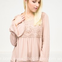 Blushing Dame Lace Top
