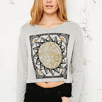 Truly Madly Deeply Global Star Top in Grey - Urban Outfitters