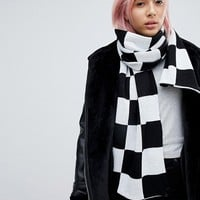 E.L.K Knitted Checkerboard Scarf at asos.com