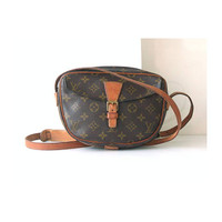 Auth Louis Vuitton Monogram jeune fille shoulder bag vintage purse