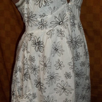 Handmade 70's Style Dress With Corset type front! Women's, Teens, Summer Time, Spring, Sun dress, Size Small to Medium.
