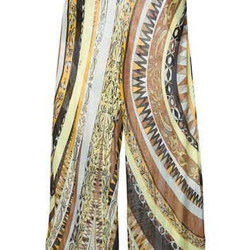 Emilio Pucci crepe patterned trousers