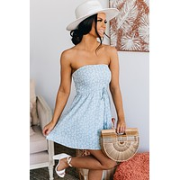 Wanna Be With You Leopard Print Dress (Blue Print)