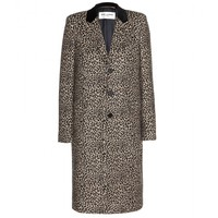 saint laurent - leopard-print wool coat