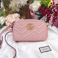 Gucci sells ladies'double G wave small waistpacks with oblique bags #5